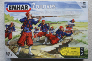 Emhar 1/72 EM7212 French Zouaves (Crimean & Franco Prussian Wars)